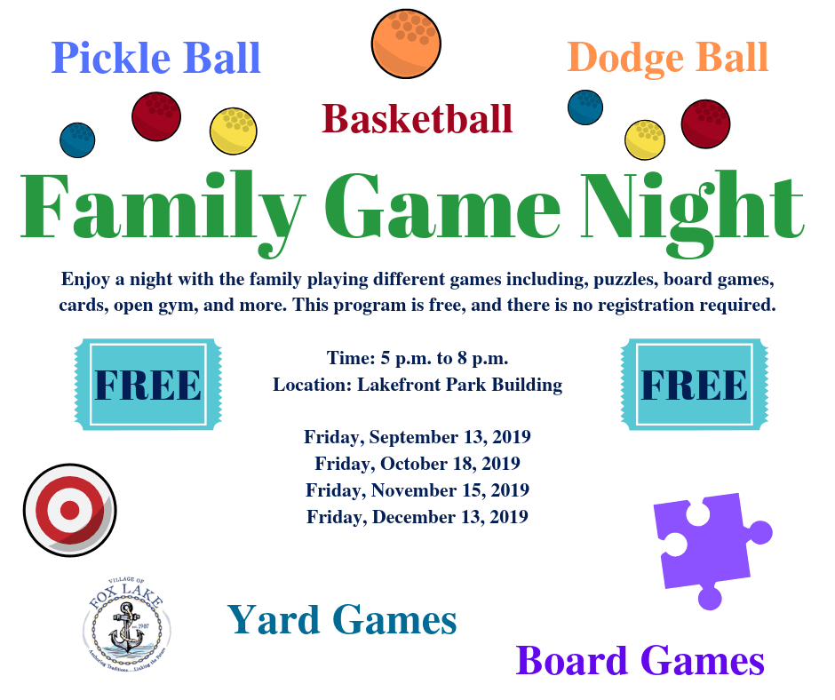 Family Game Night Fall 2019