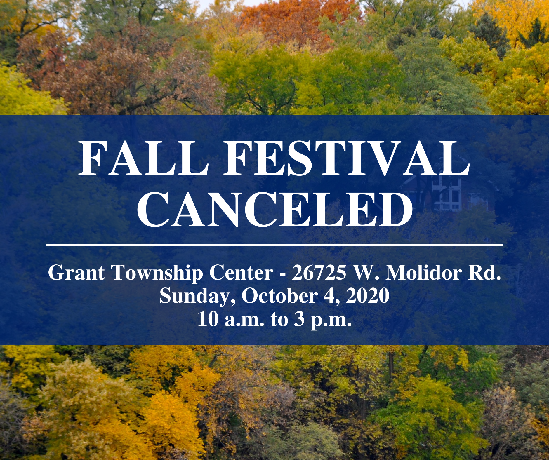 Fall Festival canceled
